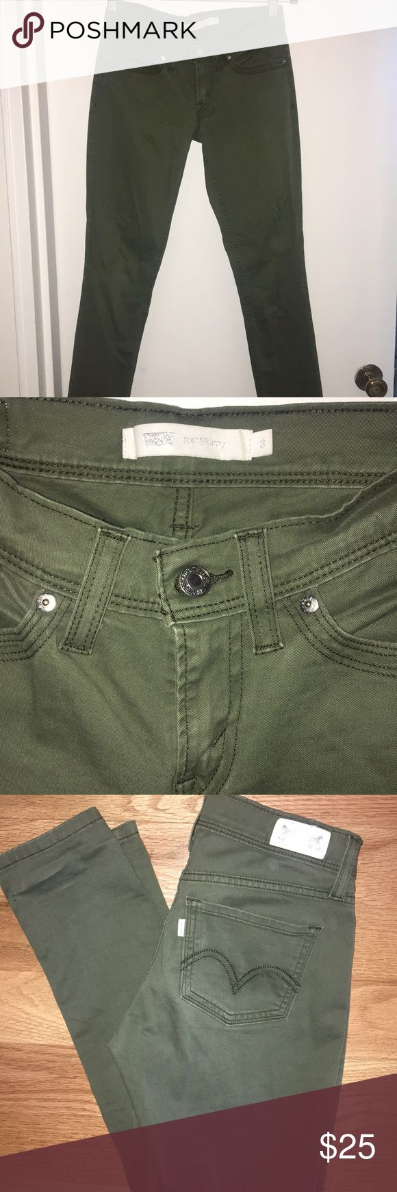 Women's Levi Skinny Jeans 524 Women's Levi Skinny Jeans 524 Size 3 Jeans style 524. Color is close to olive.  Worn a few times in excellent condition. Price is negotiable, make an offer! Levi's Jeans Skinny