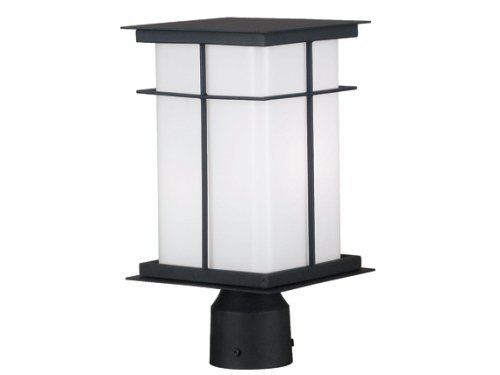 "Kenroy Home 70003TB Mesa Medium Post Lantern with 6-Inch Shade by Kenroy Home. $153.00. From the Manufacturer                Clean flat planes make this neo-mission styled lantern compatible with a wide range of decor. Crafted metal fins create a simple design across a large bright shade surface. Mesa uses energy efficient bulbs and is energy star compliant. Bulb included                                    Product Description                ""For over 50 years, the Kenro..."