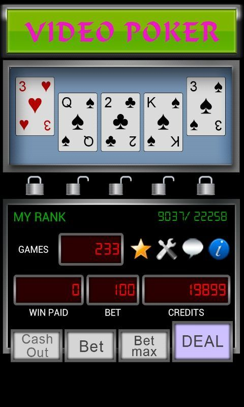 Video Poker is a simulated casino poker game...