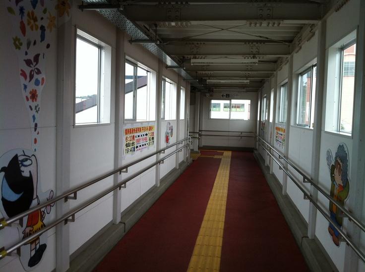 石巻駅 階段を上がったところ
