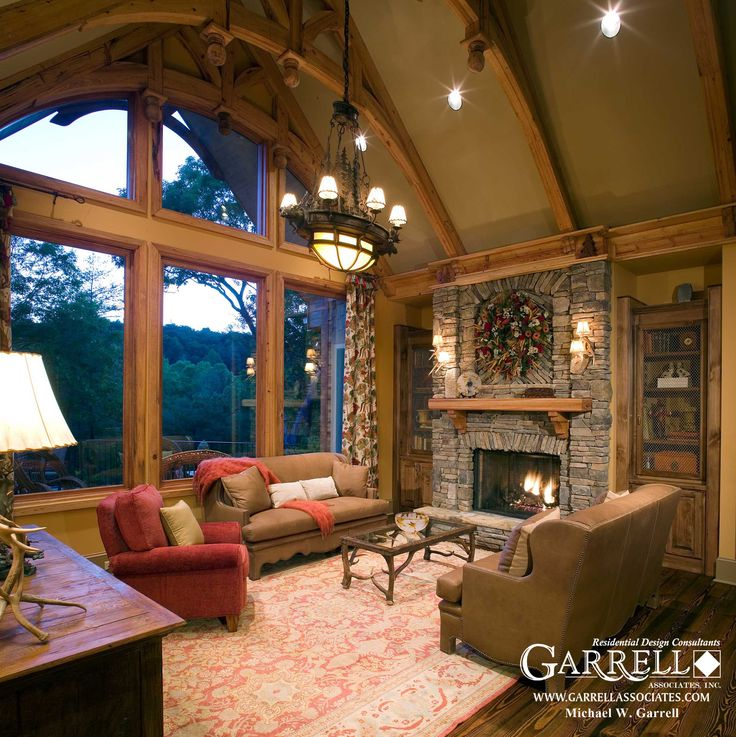 Lodge Room Design: Garrell Associates, Inc. Nantahala Cottage House Plan