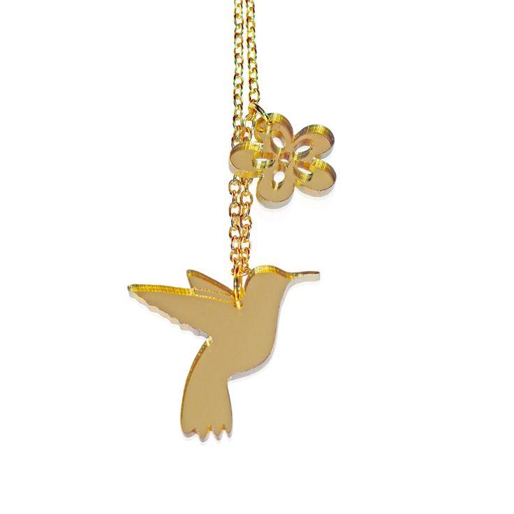Maggie Angus Hummingbird Necklace #tropical #bird #jewellery