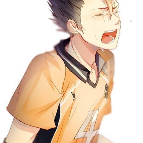 Oh no he's crying now I'm crying too  『credit to artist』  ✩tags✩  #nishinoyayuu #noya #nishinoya #ハイキユー #haikyuu #4 #karasunolibero #libero #volleyball #manga #anime #haikyuufanart #llsif #lovelive