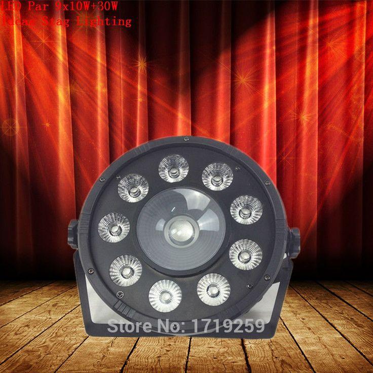 Fast Shipping  LED Flat Par 9X10W+1X30W Digit LED Disco Light RGB 3IN1 LED Light Stage DJ Light DMX Led Par Par Party Lights #Affiliate
