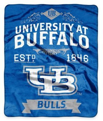NCAA Buffalo University Super Plush Raschel Throw Blanket