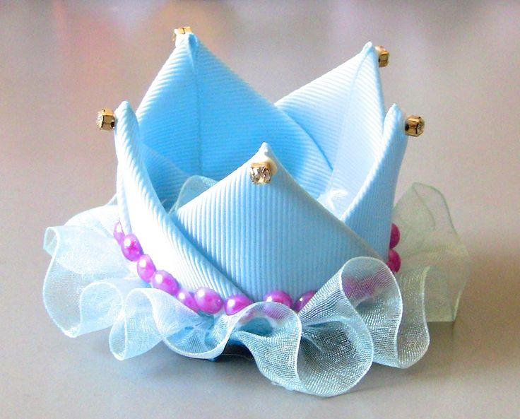 Coroa de Princesa de fitas Passo a Passo D.I.Y. Princess crown ribbons