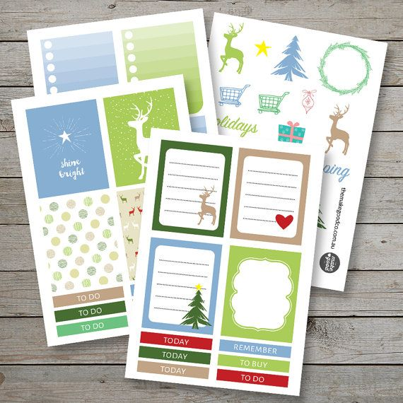 Printable Christmas Planner stickers / Erin Condren  /
