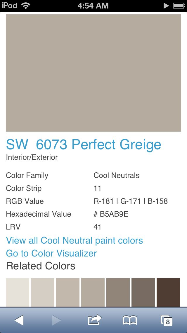 Sherwin Williams Perfect Greige on Sater Home Designs Living Rooms Images