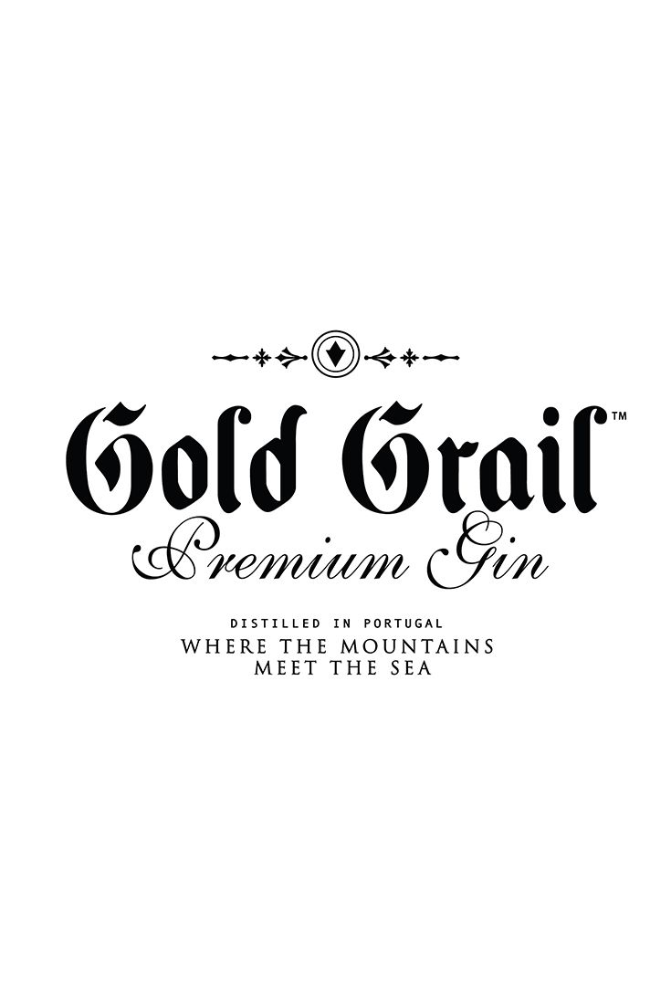 Visual identity for premium gin as a part of the packaging, label design for a special edition of 'Golden Grail'.