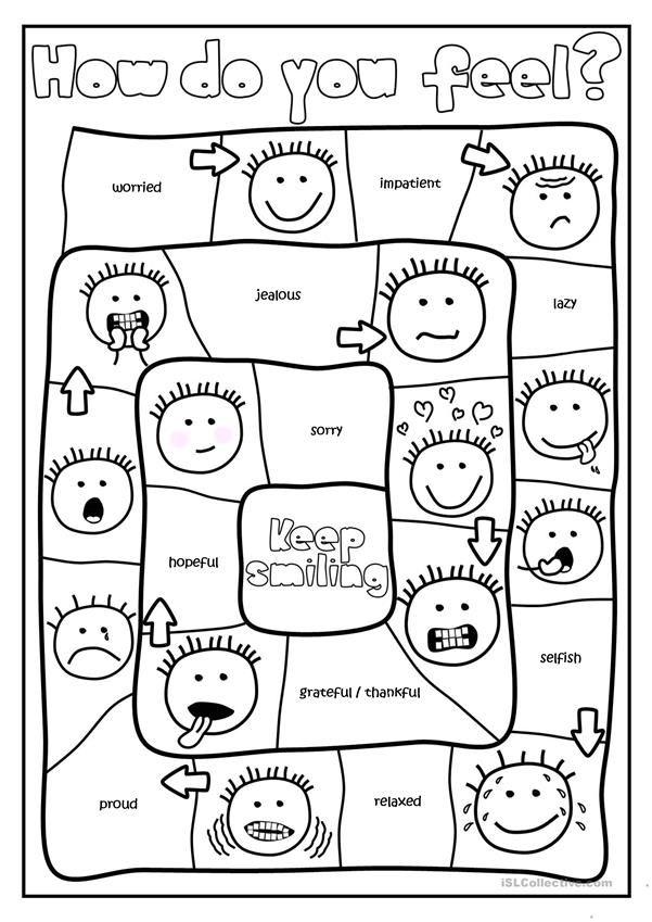 How Do You Feel Board Game Emotions Preschool Kids Worksheets Printables Kindergarten Worksheets Emotions worksheets for kindergarten pdf