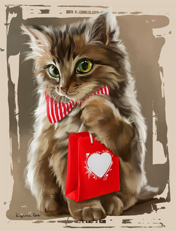 Днем рождения, поздравления в картинках кошки