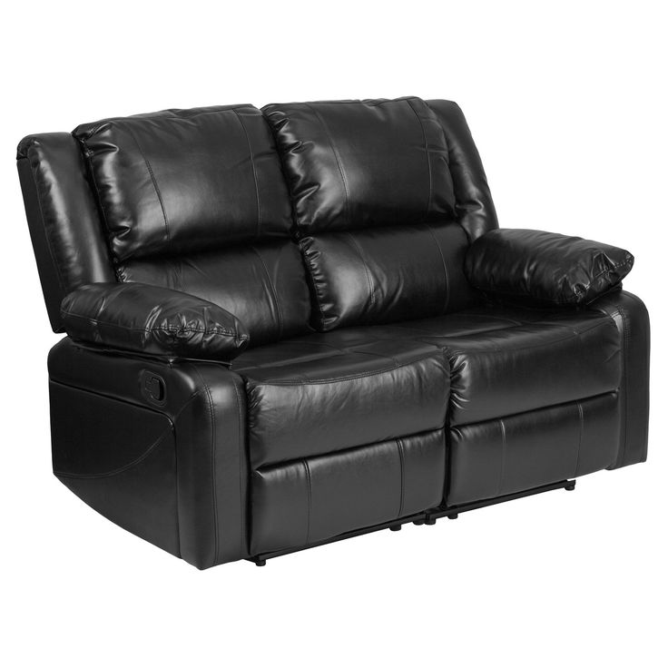 Swell Flash Furniture Harmony Series Leather Loveseat With Two Andrewgaddart Wooden Chair Designs For Living Room Andrewgaddartcom