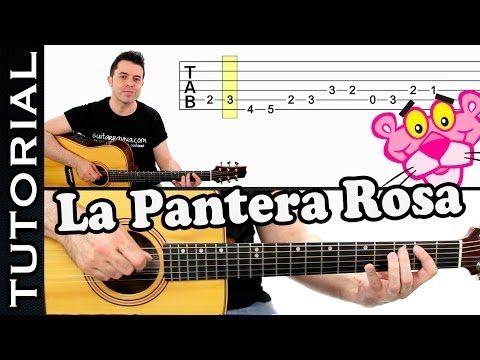 como tocar LA PANTERA ROSA en guitarra FACIL Principiantes y novatos acústica o criolla tutorial - YouTube
