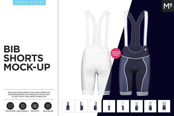 Bib Shorts Mock-up by Mocca2Go/mesmeriseme on @creativemarket