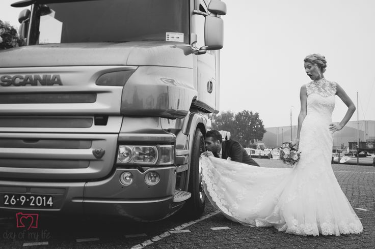 bruidsfotografie, bruiloft, wedding, weddingphotography, photography, weddingshoot, idea, shoot, photo, fotografie, dayofmylife, fun, trucker, vrachtwagen