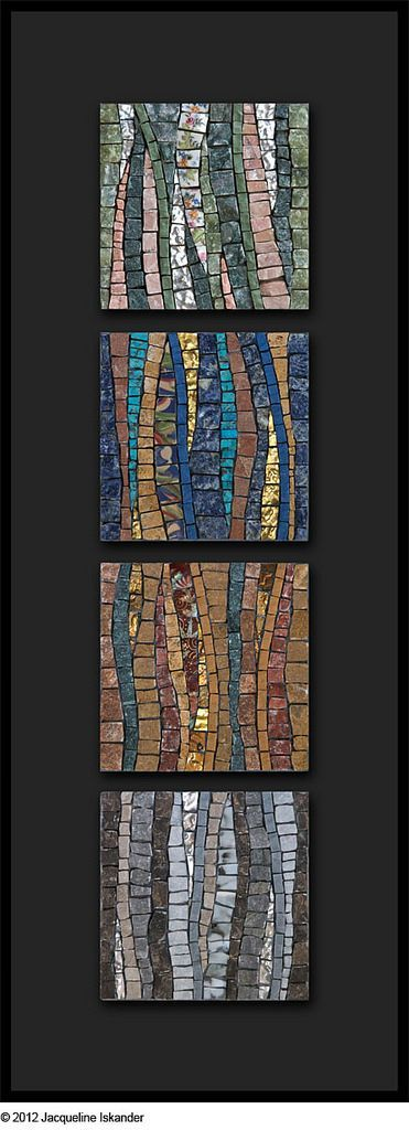 "©️️ 2012 Jacqueline Iskander Marble, porcelain, mosaic gold, broken china, sodalite, turquoise, malachite, onyx  4"" x 4"" | 10cm x 10cm"