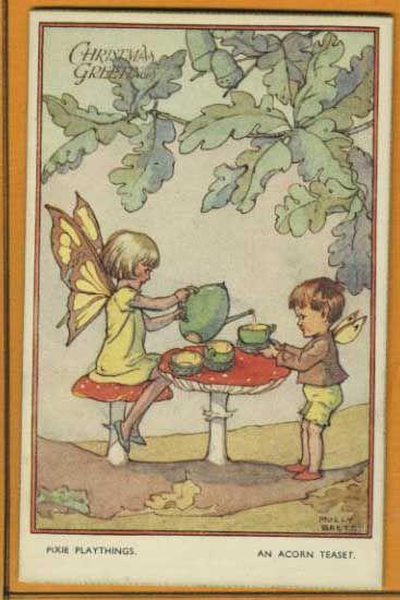 Molly Brett - English - vintage postcard