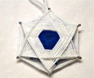 Six sided Yarn Star for Hanukkah by gingerbread_snowflakes, via Flickr