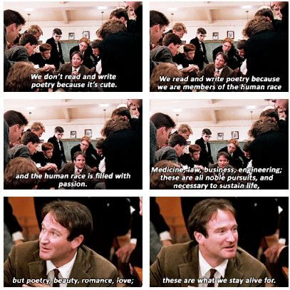 dead poets society ch 6 On social media in august 2014, several fans paid tribute to williams with photo and video reenactments of the 1989 film dead poets society ' s o captain.