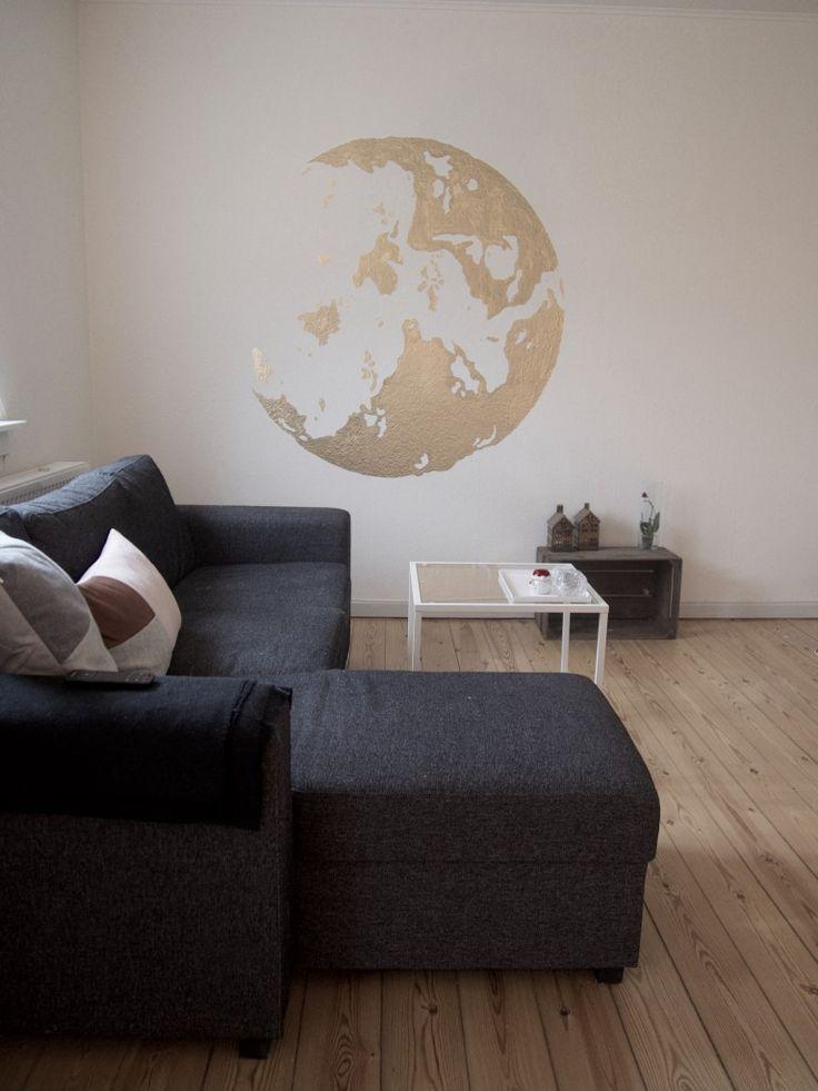 En globus på min væg til at sætte et personligt præg på min stue.