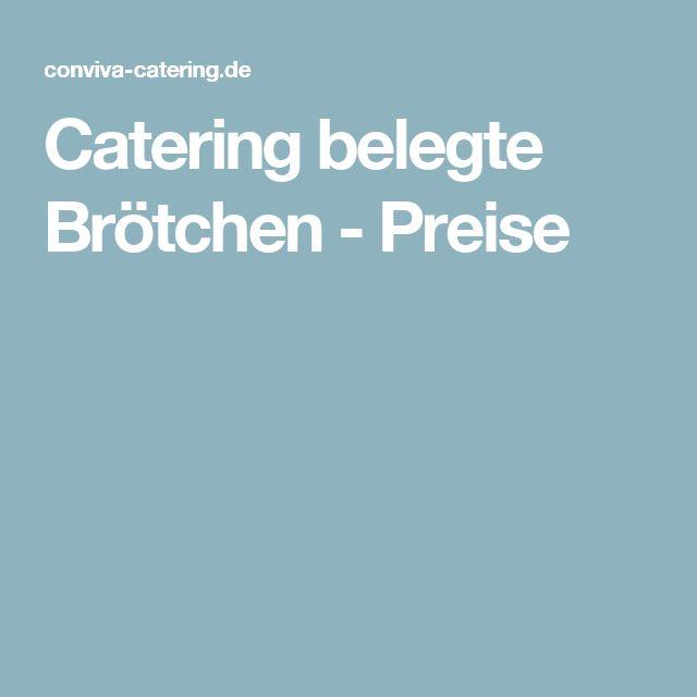 Catering belegte Brötchen - Preise
