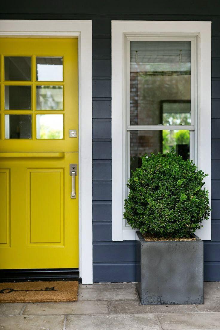 sunny yellow dutch doors: Garden Studio Designs has a real eye for color and design. Decor Ideas | Home Design Ideas, DIY, Interior Design