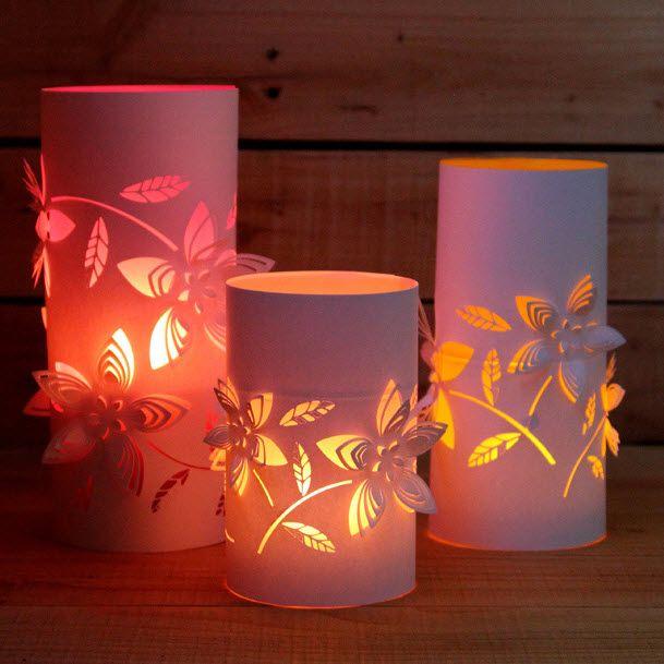 photophore papier laura morin pinterest photophore lanterne et lanternes en papier. Black Bedroom Furniture Sets. Home Design Ideas