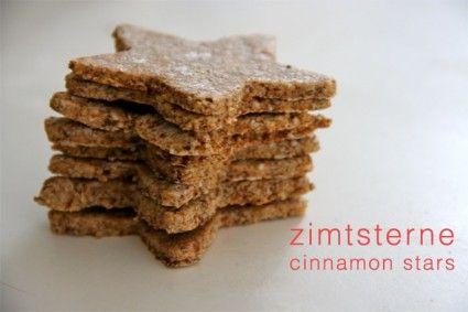 zimtsterne cinnamon stars - replace sugar with stevia