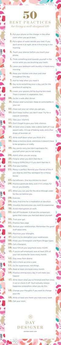 Fifty Best Practices for Living a Well-Designed Life   Day Designer® • 2016 Daily Planner