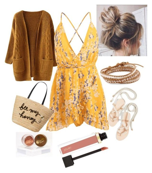 """""""Beach date"""" by sweetmoegee on Polyvore featuring Chan Luu, The Palatines, Kate Spade, messy, beach, comfy, bronzer and beachparty"""