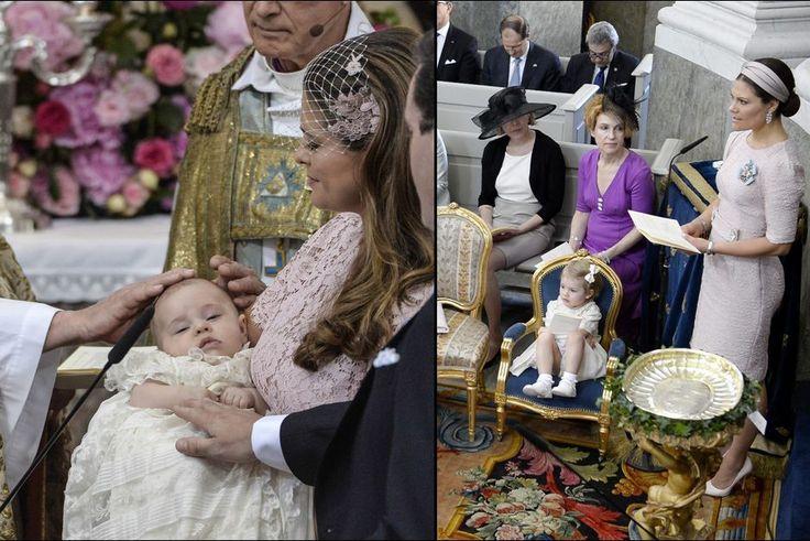 VICTORIA DE SUÈDE, LA REINE DES MARRAINES   Baptême de la princesse Leonore de Suède, fille de la princesse Madeleine et de Chris O'Neill