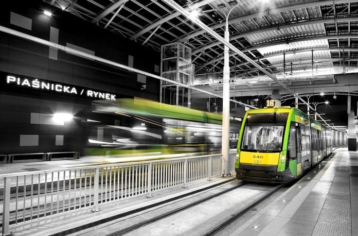 Poznan Poland, tunel trasy tramwajowej os.Lecha-Franowo, przyst. Piaśnicka/Kurlandzka [fot.Radosław Maciejewski]