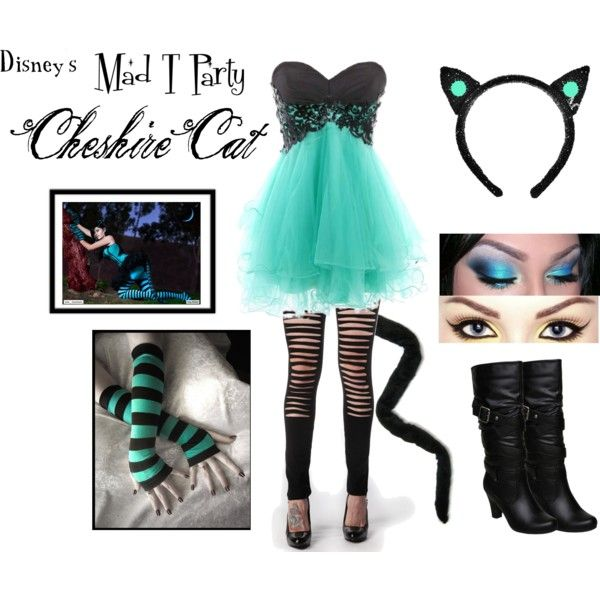 mad t party cheshire cat costume by karla cristina on polyvore - Cat Outfit For Halloween