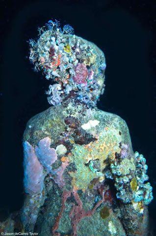 Underwater scultures by Taylor.    #art, #modern art