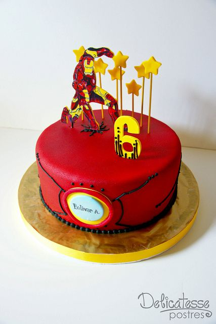 Iron Man Cake by Delicatesse Postres, via Flickr