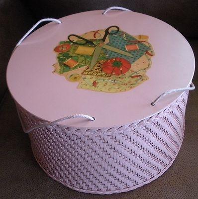 Vintage Sewing Basket - Wicker