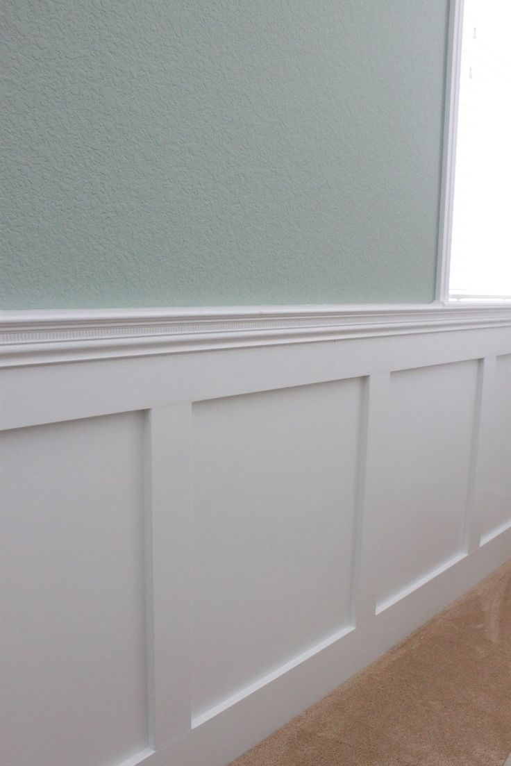 85 best wainscoting ideas images on pinterest moldings for Living room wainscoting ideas