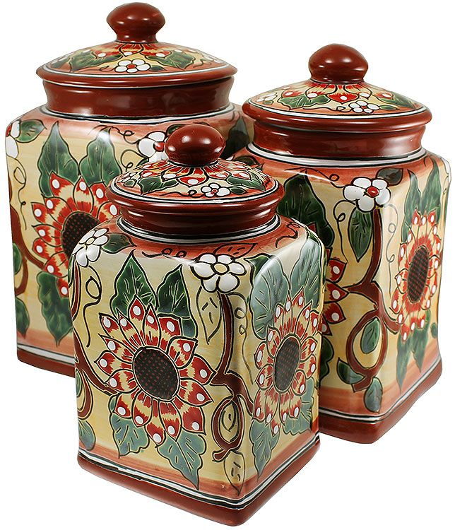 507 best kitchen canisters images on pinterest kitchen for Spanish style kitchen decor