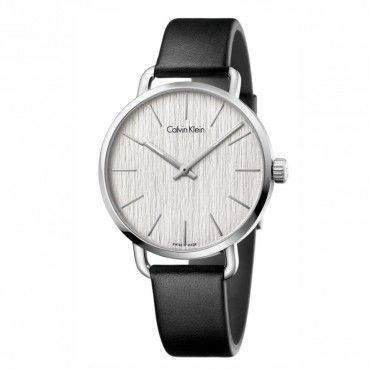 K7B211C6 Ανδρικό - γυναικείο ελβετικό ρολόι CALVIN KLEIN Even με μαύρο δέρμα και ασημί καντράν | Ρολόγια CK Κοσμηματοπωλείο ΤΣΑΛΔΑΡΗΣ στο Χαλάνδρι #Calvin #Klein #even #δερμα #ρολοι