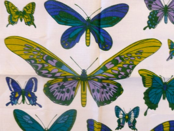 Vintage Ulster Tea Towel Irish Linen A Butterfly By ModCatVintage, $32.95