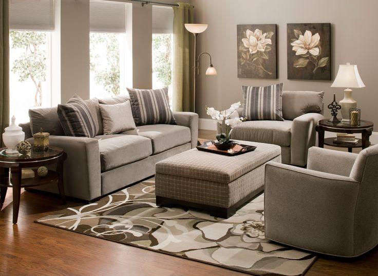 This Carlin microfiber sofa in granite will make a great addition to your contemporary living space.