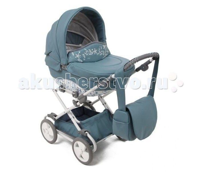 Коляска для куклы Tako SunLine Mini Eco  Стильная, красивая и элегантная коляска от Tako для маленьких модниц.  Материал коляски экокожа.  В капюшоне коляски спряталось маленькое окошко для проветривания.  Внутренняя обивка легко снимается для стирки.  Большая и вместительная сумка имеет кармашки, и дополнительно застегивается на молнию.  Ручка регулируется по высоте от 50 до 70 см.  Высота от пола до капюшона 90 см.  Размеры люльки: 60 см на 30 см.  Под люлькой расположена большая и…