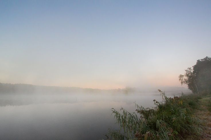 fog there is - Mist or fog over the small loch, with Sunrise