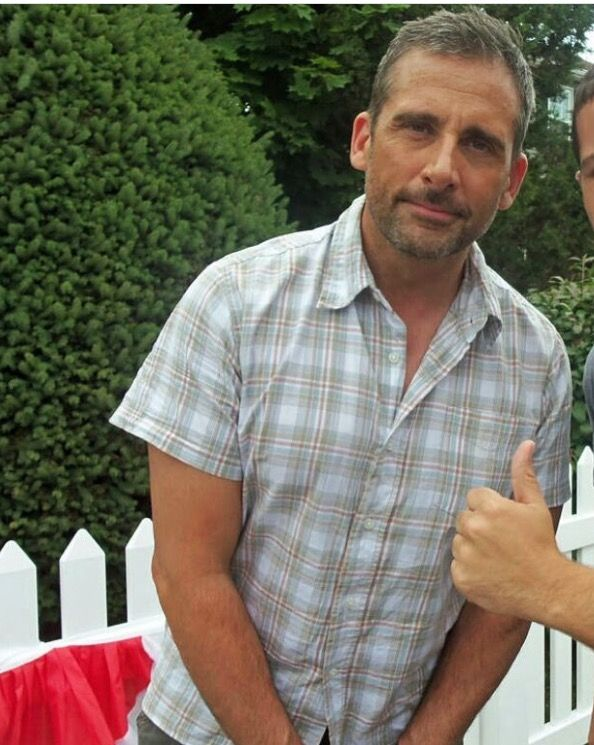 Steve Carell on the set of The Way, Way Back