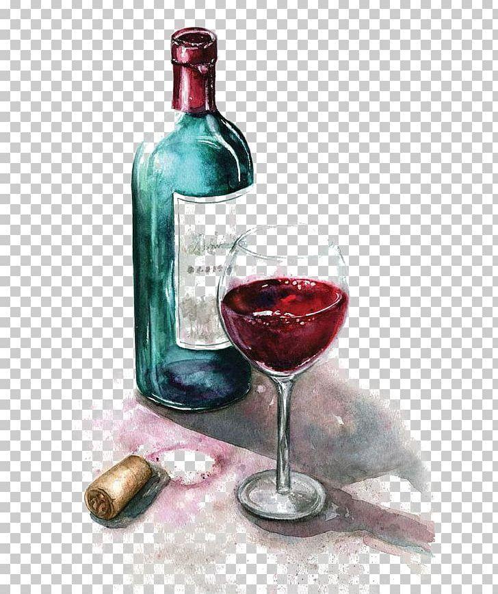 Red Wine Watercolor Painting Wine Glass Png Art Bordeaux Wine Cartoon Cork Dessert Wine Wine Bottle Drawing Bottle Drawing Wine Painting