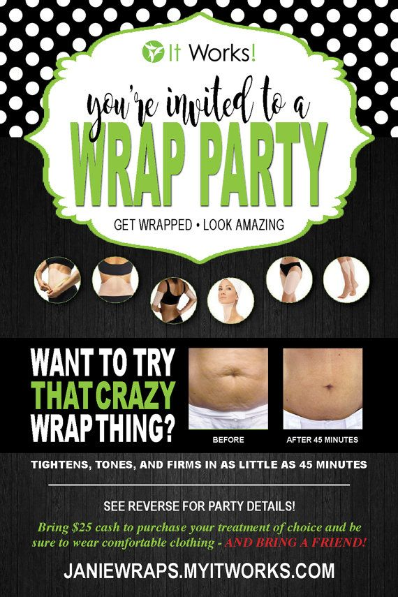 it works wrap party invite to give you inspiration in making