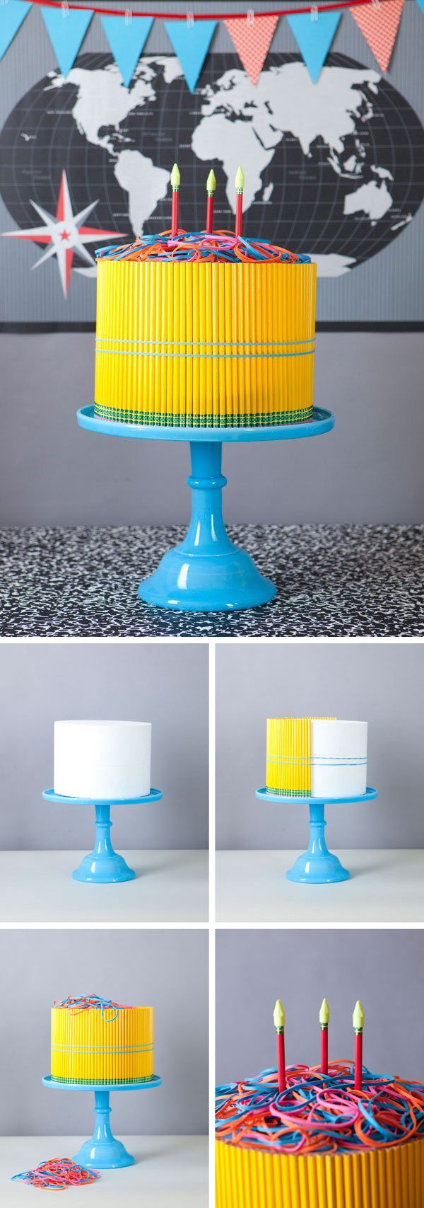 "I cant think of why I'd ever make this, but its awesome... Pencil ""Cake"" DIY - {Back to School Ideas}"