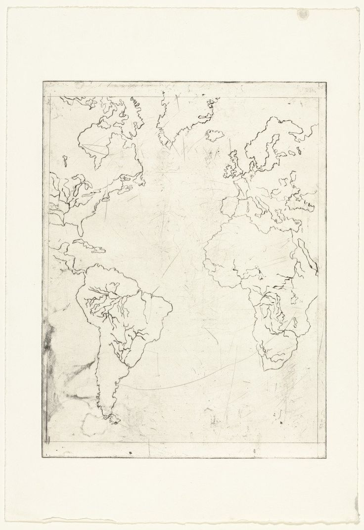 Louise Bourgeois. Map of the Western Hemisphere. 1996