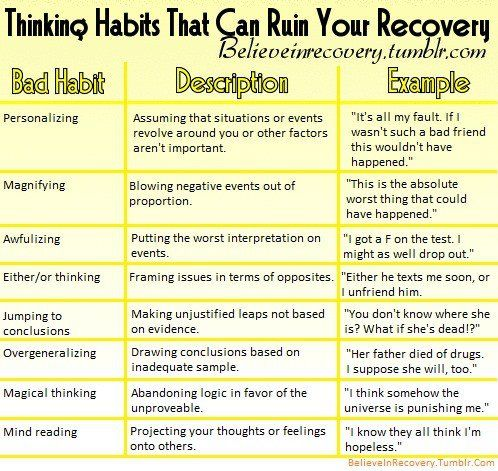 Thinking Habits That Can Ruin Your Recovery