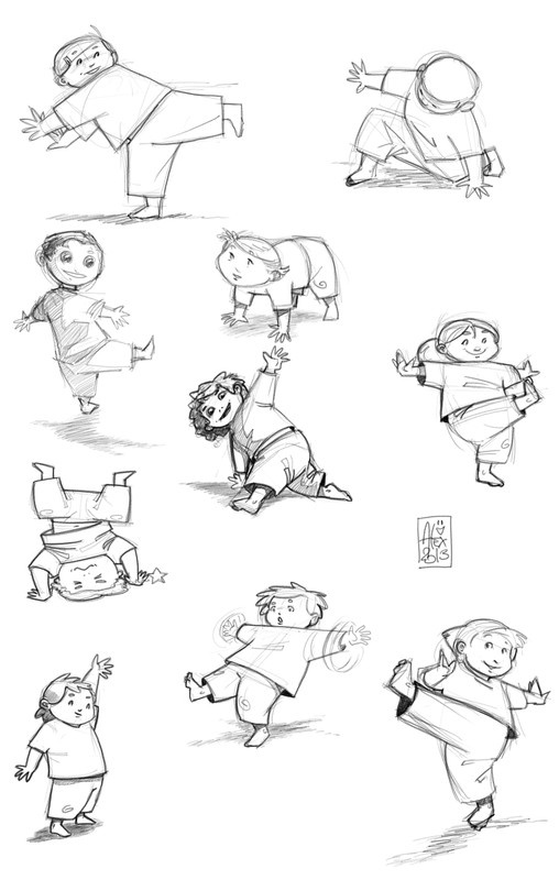 croquis sketches capoeira kids - Sketches Of Kids